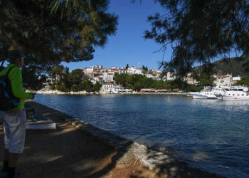 Skiathos, Blick auf die Altstadt