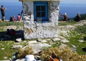 Rast an der Kapelle Agia Kiriaki