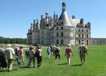 Anmarsch auf Schloss Chambord