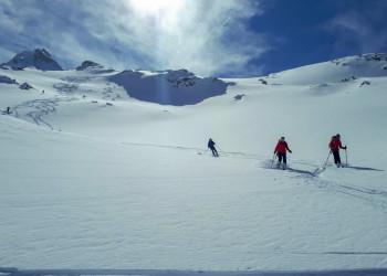 sterreich-Alpen-Sonne-Powder