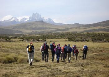 Wanderer Mount Kenya