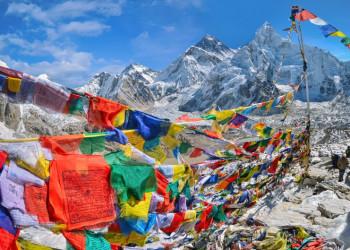 Blick auf Nuptse und Mount Everest vom Kala Pattar