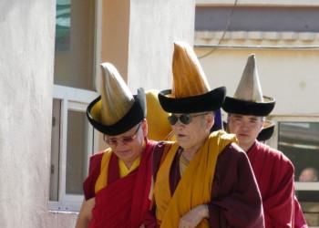 Mönche im Gandan-Kloster auf Mongolei Rundreise