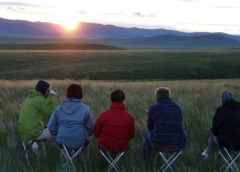 Zelten in der Mongolei