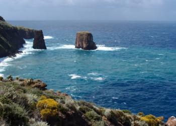 Wunderschöner Blick auf das Meer