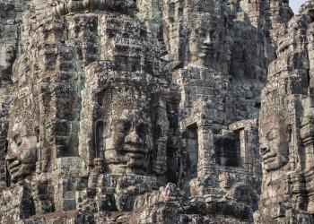 Angkor Bayon Tempel mit Steingesichter