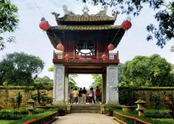 Der Literaturtempel in der vietnamesischen Hauptstadt Hanoi