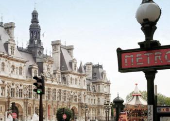 Metro Schild in Paris