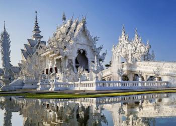 Der Tempel Wat Rong Khun in Chiang Rai