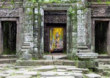 Tempeleingang von Champasak in Laos