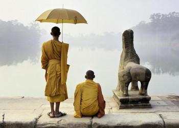 Buddhistische Mönche in Kambodscha