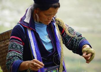 Bäuerin in Vietnam