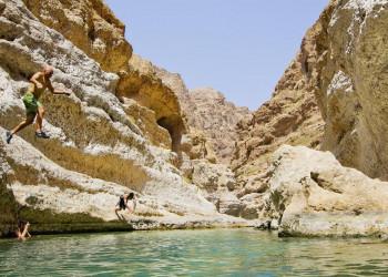 Baden im Wadi - typisch Oman