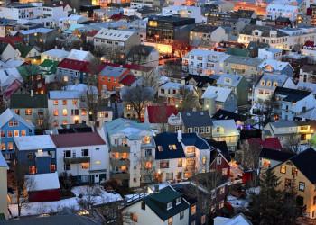 Ausblick auf die Dächer von Reykjavik