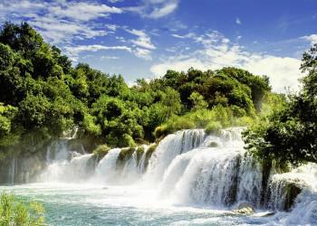 Die Krka-Fälle in Kroatien
