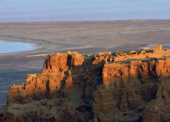 Masada im Abendlicht