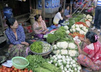 Frischmarkt in Myanmar