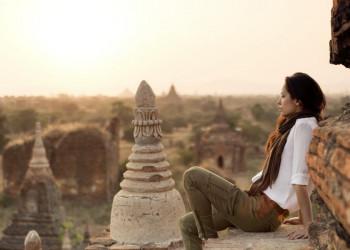 Tempelfeld von Bagan in Myanmar
