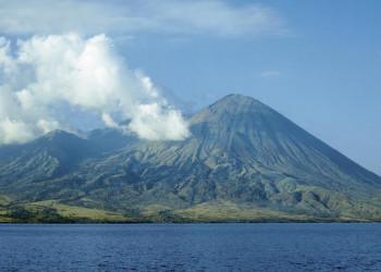 Vulkankegel in Indonesien