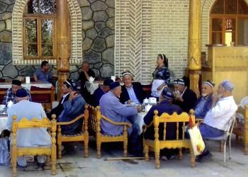 Männer in Teestube Buchara Usbekistan