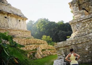 In den Ruinen von Palenque in Mexiko