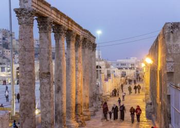 Abendstimmung am römischen Theater von Amman