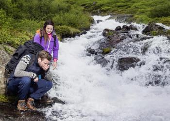 Wanderung am Fluss Blanda