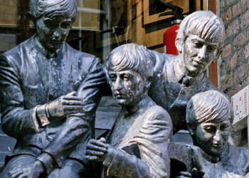 Beatles-Denkmal in Liverpool