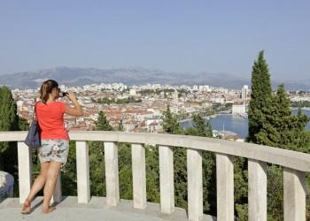 Blick vom Berg Marjan auf die schöne Altstadt von Split.
