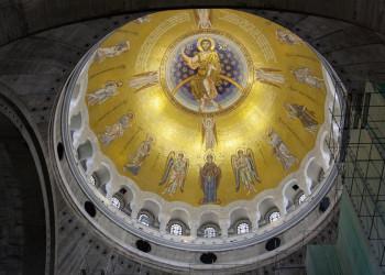 Kuppel der Sava-Kirche in der serbischen Hauptstadt Belgrad
