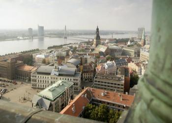Riga vom Turm der Petrikirche