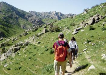 Wanderer in Usbekistan