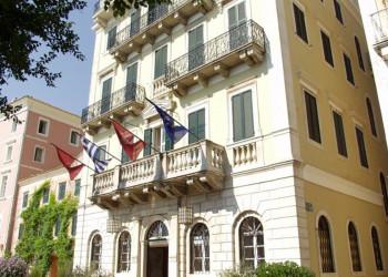 Das Hotel Cavalieri in Gehweite zur Altstadt von Korfu-Stadt