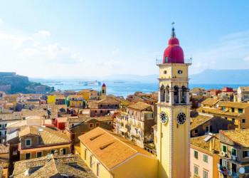 Die Altstadt von Korfu-Stadt von oben