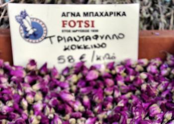 Blüten auf dem Markt in Athen
