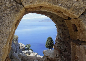 Immer wieder ein Blickfang - die Küste in Griechenland