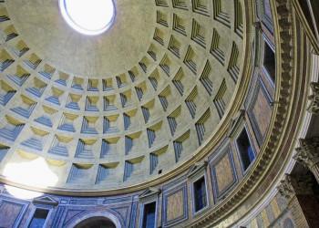 Kuppeldecke des Pantheons in Rom