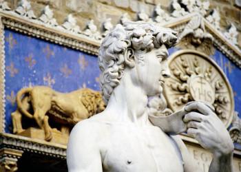 Die Kopie derDavid-Statue von Michelangelo in Florenz