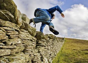 Trockensteinmauern in Schottland