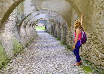 Felsiger Durchgang in Biertan, Siebenbürgen