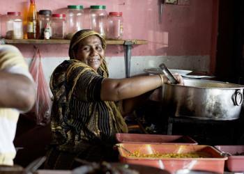 Köchin, Garküche, Sri Lanka