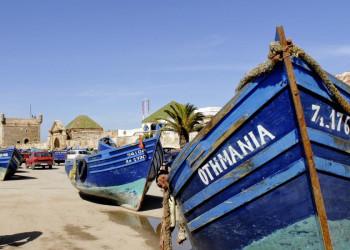 Boote im Hafen von Essaouira, Marokko