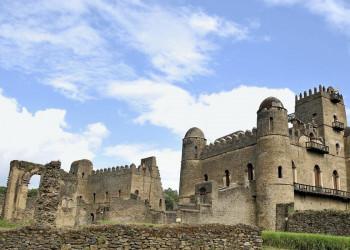 Der Kaiserpalast in Gondar in Äthiopien
