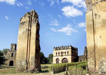 Der Kaiserpalast von Gondar, Äthiopien