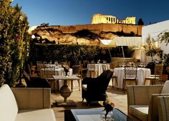 Dachterrasse des Hotels Divani Palace Acropolis in Athen