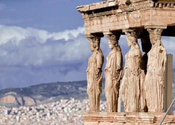 Hoch oben auf der Akropolis in Athen