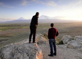 Blick auf den Berg Ararat vom Kloster Chor Wirab aus