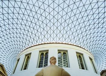 Im Hof des British Museum in London