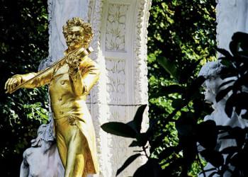 Das Johann-Strauß-Denkmal im Wiener Stadtpark