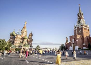 Auf dem Roten Platz in Moskau